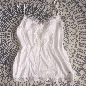White lacy tank top